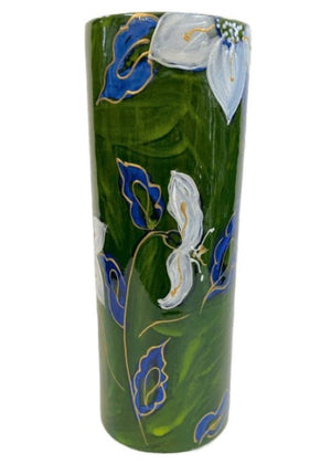 Anita Harris Art Pottery Christmas Rose Cylinder Vase