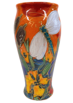 Anita Harris Art Pottery Dragonfly Brook Bella Vase