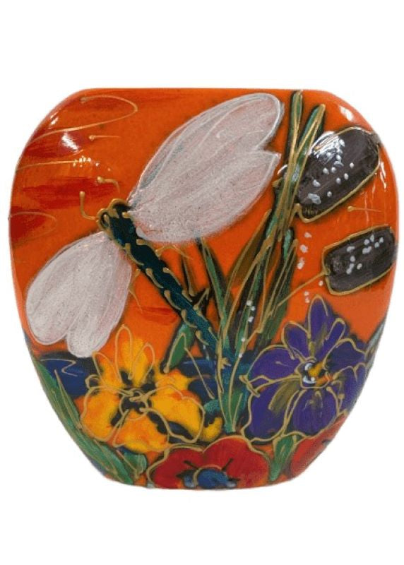 Anita Harris Art Pottery Dragonfly Brook Purse Vase - Small
