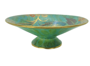 Carlton Ware Art Deco Flower & Falling Leaf Pattern Footed Conical Bowl