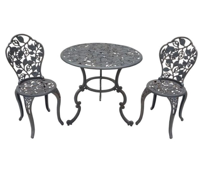 Cast Iron 3 piece Garden Setting - Leaves