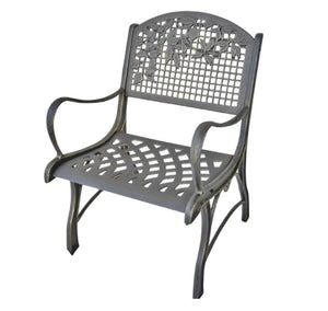 Cast Iron Arm Chair - Leaves