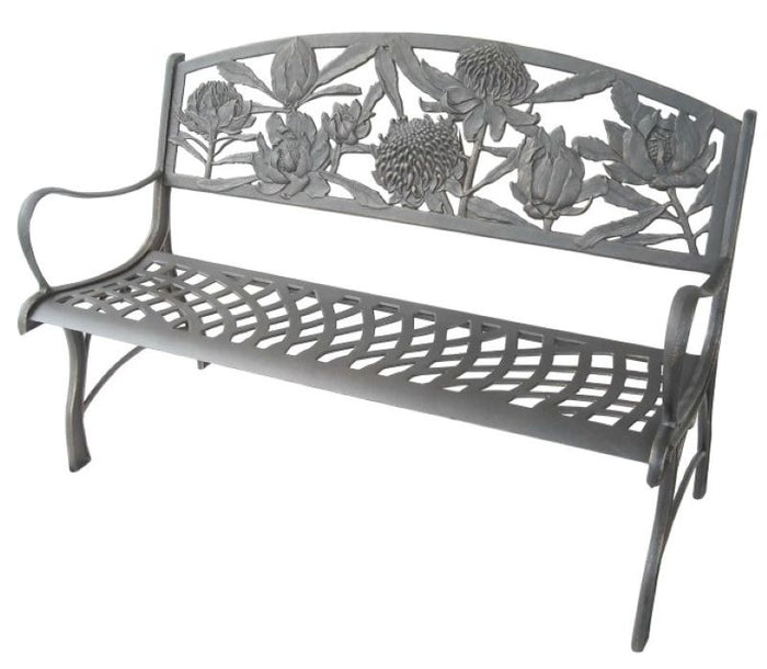 Cast Iron Bench - Waratah