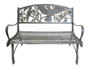 Cast Iron Loveseat Bench - Cockatoos