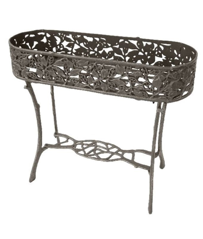 Cast Iron Oval Plant Stand - Leaves