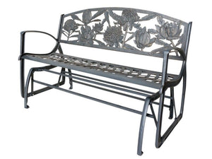 Cast Iron Rocking Bench - Waratah