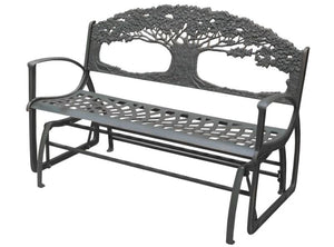 Cast Iron Rocking Bench - Tree