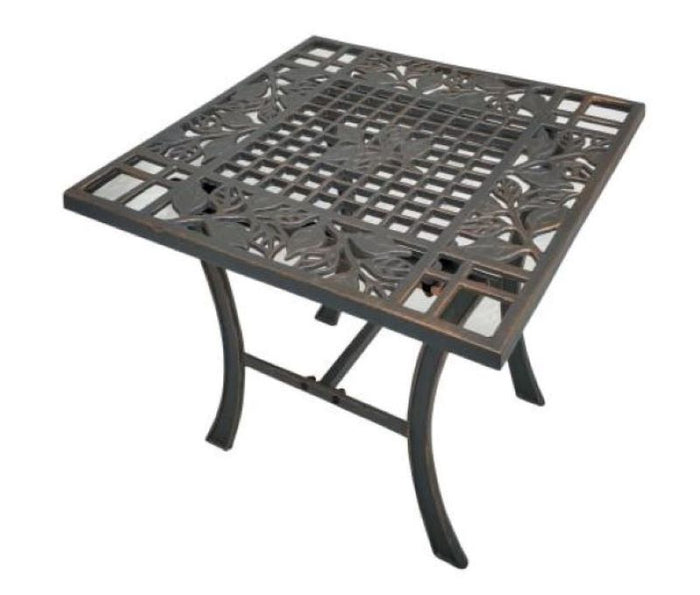 Cast Iron Side Table - Leaves