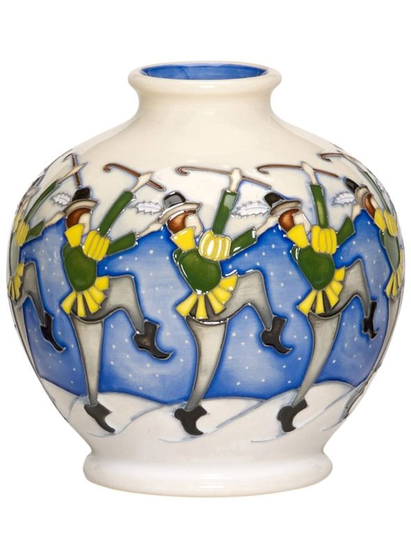 Moorcroft 12 Days of Christmas - 10 LORDS LEAPING Vase 41/4