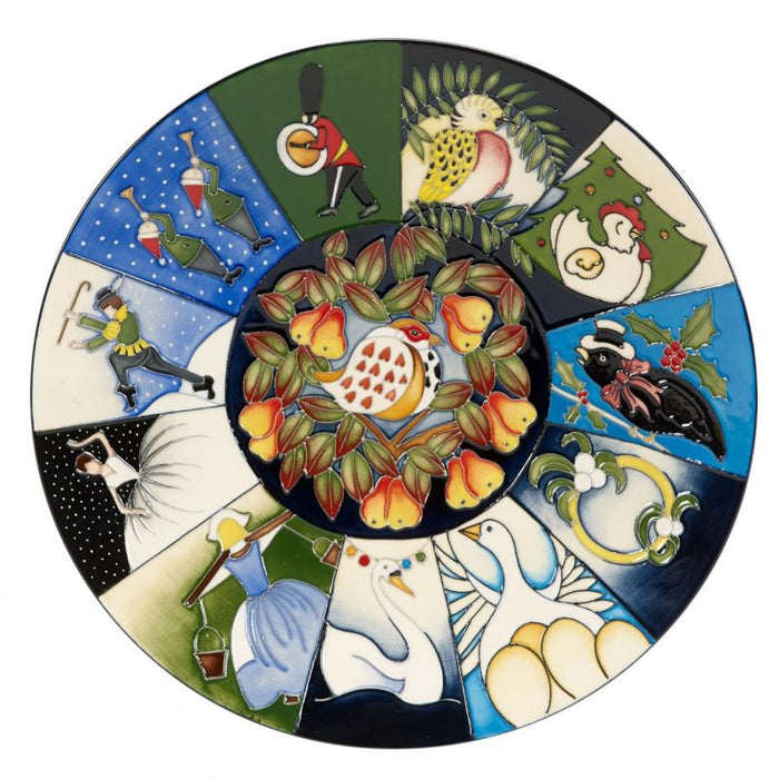Moorcroft 12 Days of Christmas Plate 785-10