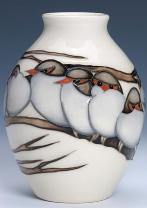 Moorcroft Splendid Wren Vase 3/5 - Numbered Edition