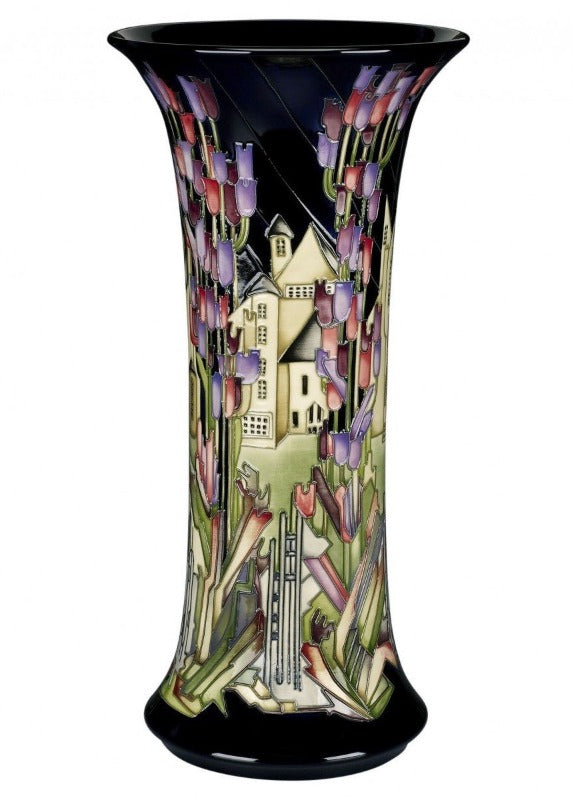 Moorcroft Prestige Town of Flowers Vase 159/18 - Numbered