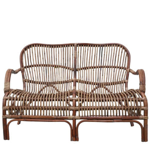 Rattan Two Seater - Antique