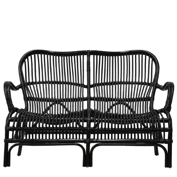 Rattan Two Seater - Black