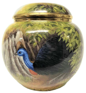 Steve Smith Cassowary Lidded Vase - Ltd Ed 5