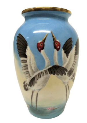 Steve Smith Dancing Brolgas Vase - Ltd Ed 5