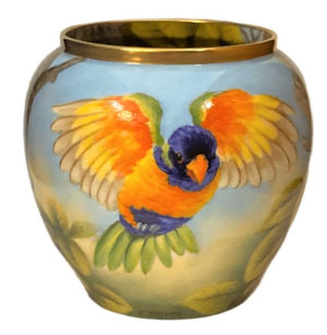 Steve Smith Rainbow Lorikeets Vase - Ltd Ed 5
