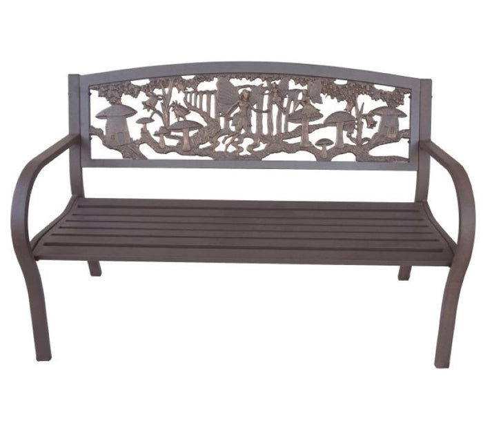 Tube Steel-Cast Iron Bench - Garden Fairy