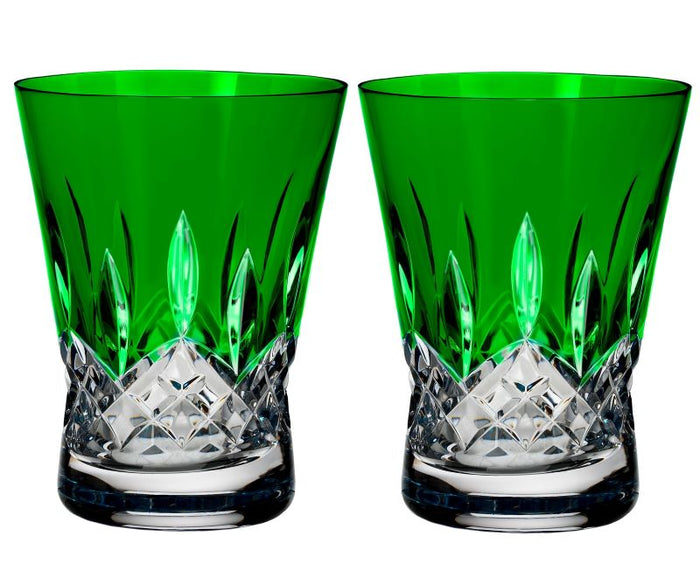 Waterford Crystal Lismore Pops Emerald Tumbler Pair