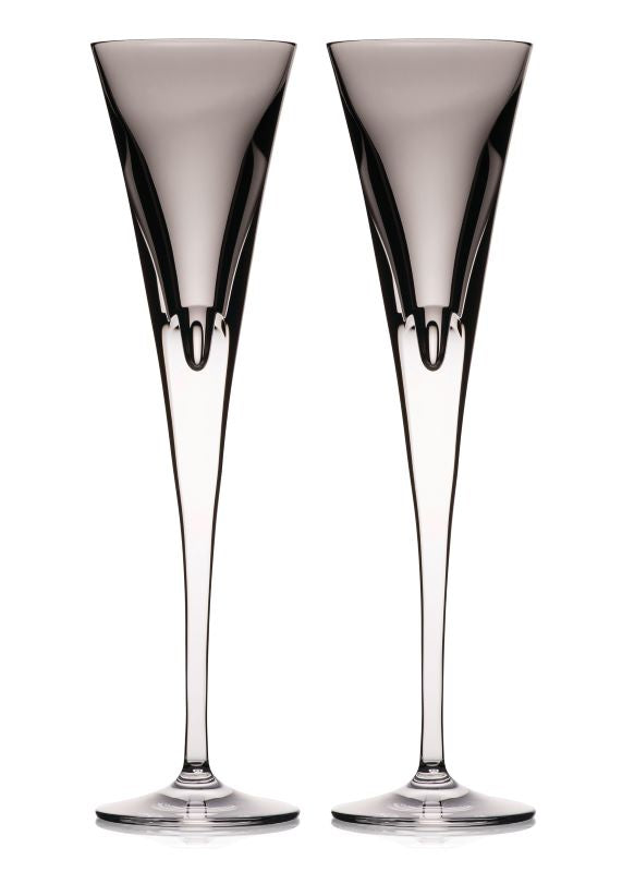 Waterford Crystal W-Collection Shale Flute Pair