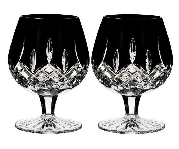 Waterford Crystal Lismore Black Brandy Balloon Pair