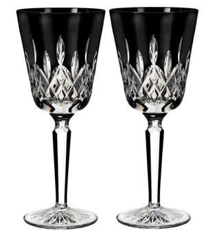 Waterford Crystal Lismore Black Wine Pair