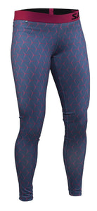 Salming Run Flow Tights Women - Blue/Pink