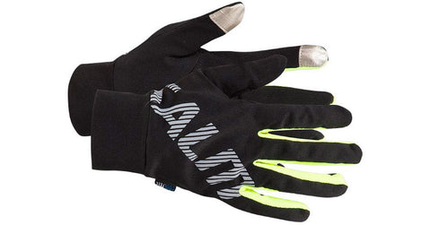 Salming Running Gloves - Black/Pink Glo