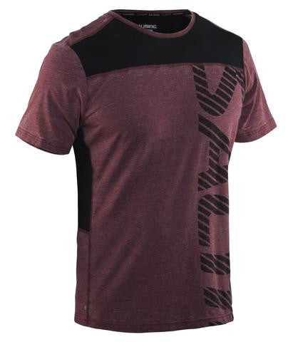 Salming Run Legend Tee - Burgundy Melange