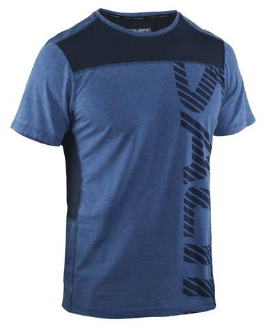 Image of Salming Run Legend Tee - Blue Mist Melange