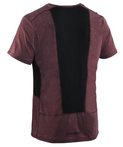 Image of Salming Run Legend Tee - Burgundy Melange