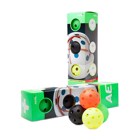 Aero Plus Floorball 4-pack - Colored