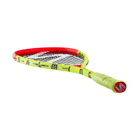 Salming Grit PowerLite Racket	- Fluorescent Yellow/Flame Red