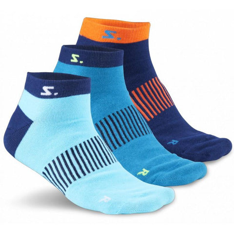 Salming Ankle Sock 3-pack - Navy/Cyan/Turqouise