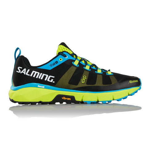 Salming Trail 5 Shoe - Black/Flourescent Green