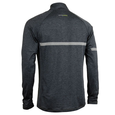 Image of Phase Half Zip - Dark Grey Melange