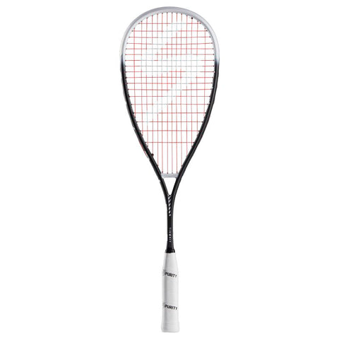 Image of Salming Grit Feather Racket - Black/White