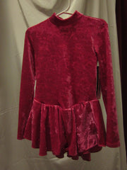 Body Wrappers Child Velvet Skate Dress Size 4-6 Style 2116