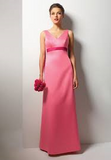 Alfred Angelo Long Satin Bridesmaid Dress