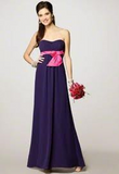 Alfred Angelo Long Chiffon Bridesmaid Dress