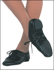 Capezio Black Split Sole Jazz Oxford Shoes
