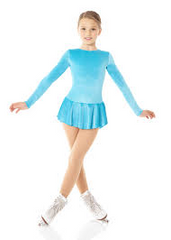 Mondor Child Glitter Skate Dress Size 4-6 Style 2711