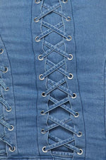 Load image into Gallery viewer, Eyelet Denim Dress