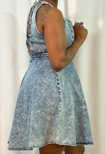 Load image into Gallery viewer, Denim Skater Dress