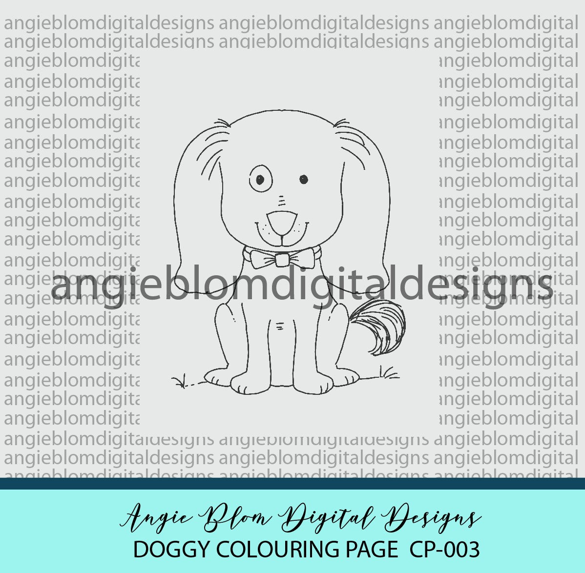 Doggy Colouring Page