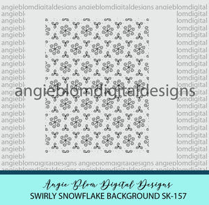 Swirly Snowflakes Background