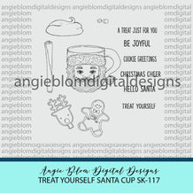 Load image into Gallery viewer, Treat Yourself Santa Cup