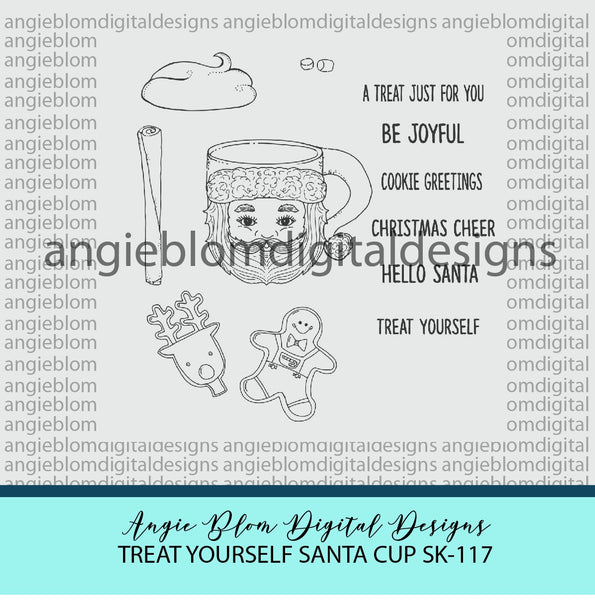 Treat Yourself Santa Cup
