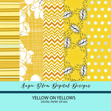 Load image into Gallery viewer, YELLOW ON YELLOWS DIGITAL PAPERS