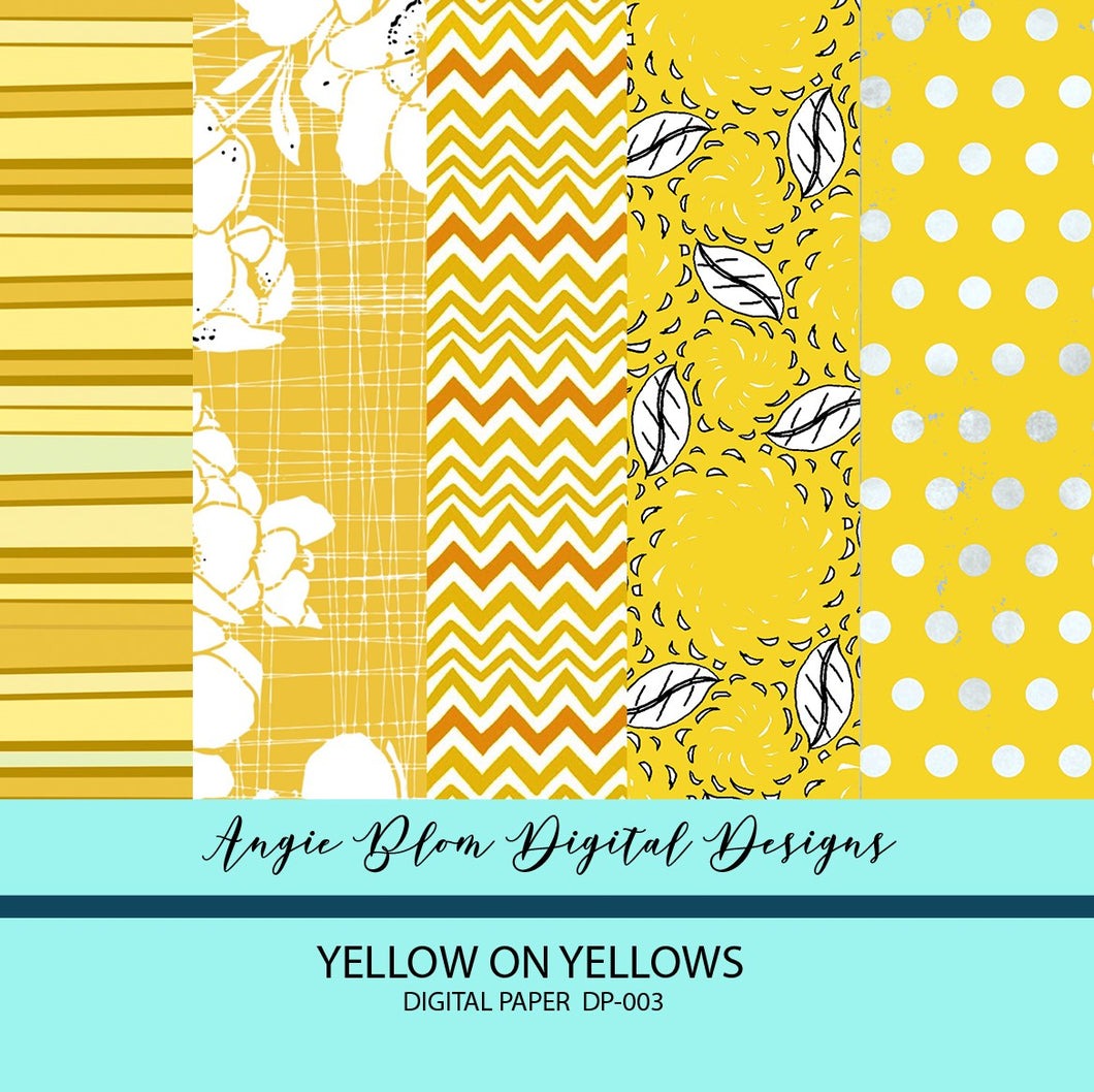 YELLOW ON YELLOWS DIGITAL PAPERS